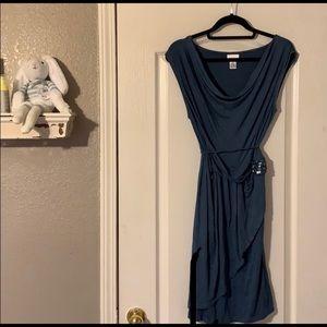 motherhood maternity blue wrap style dress size M